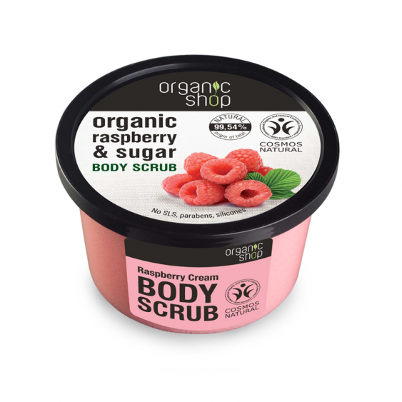 Organic Shop Raspberry Cream Natural Body Scrub - 250ml