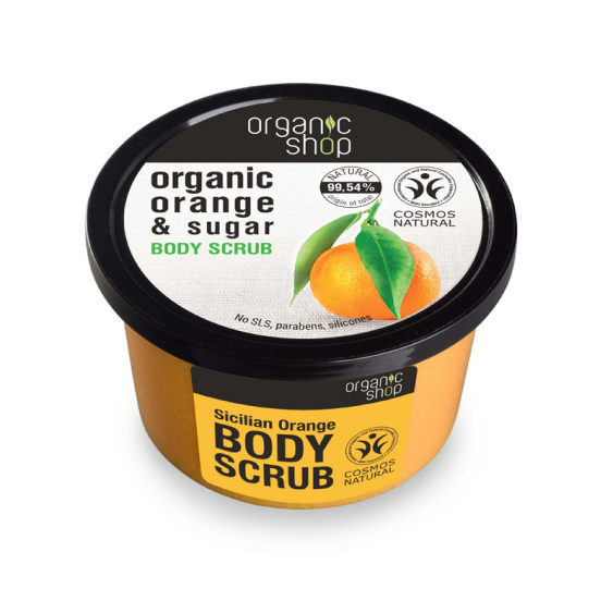 Organic Shop Sicilian Orange Natural Body Scrub - 250ml