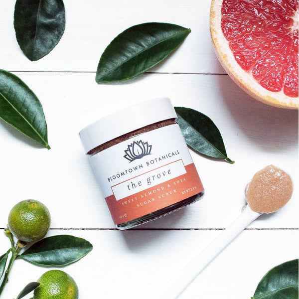 Bloomtown Botanicals Exfoliating & Moisturising Sugar Scrub:The Grove (Blood Orange & Pink Grapefruit) 100g