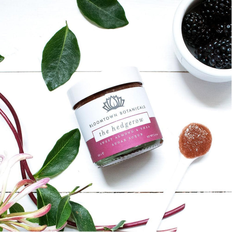 Bloomtown Botanicals Exfoliating & Moisturising Sugar Scrub: The Hedgerow (Blackberry & Honeysuckle) 285g