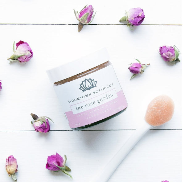 Bloomtown Botanicals Exfoliating & Moisturising Sugar Scrub: The Rose Garden (Musk Rose & Pink Clay) 285g