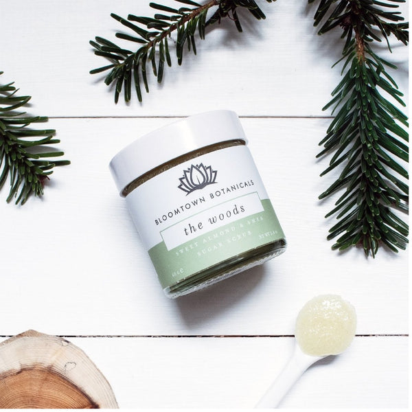 Bloomtown Botanicals Exfoliating & Moisturising Sugar Scrub: The Woods (Vetiver, Cedar & Bergamot) 285g