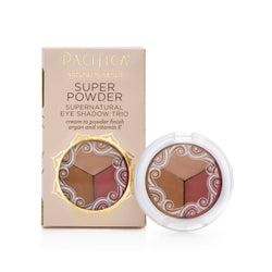 Pacifica Super Powder Natural Eye Shadow Trio Breathless, Glowing, Sunset