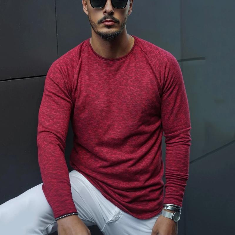 Fashion Men's Round Collar Pure Color T-Shirt