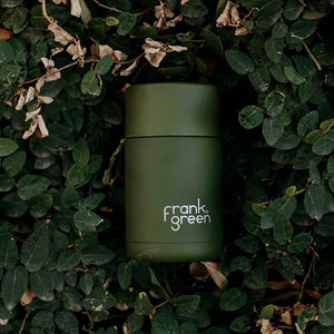 Khaki Frank Green 12 oz Ceramic Reusable Cup