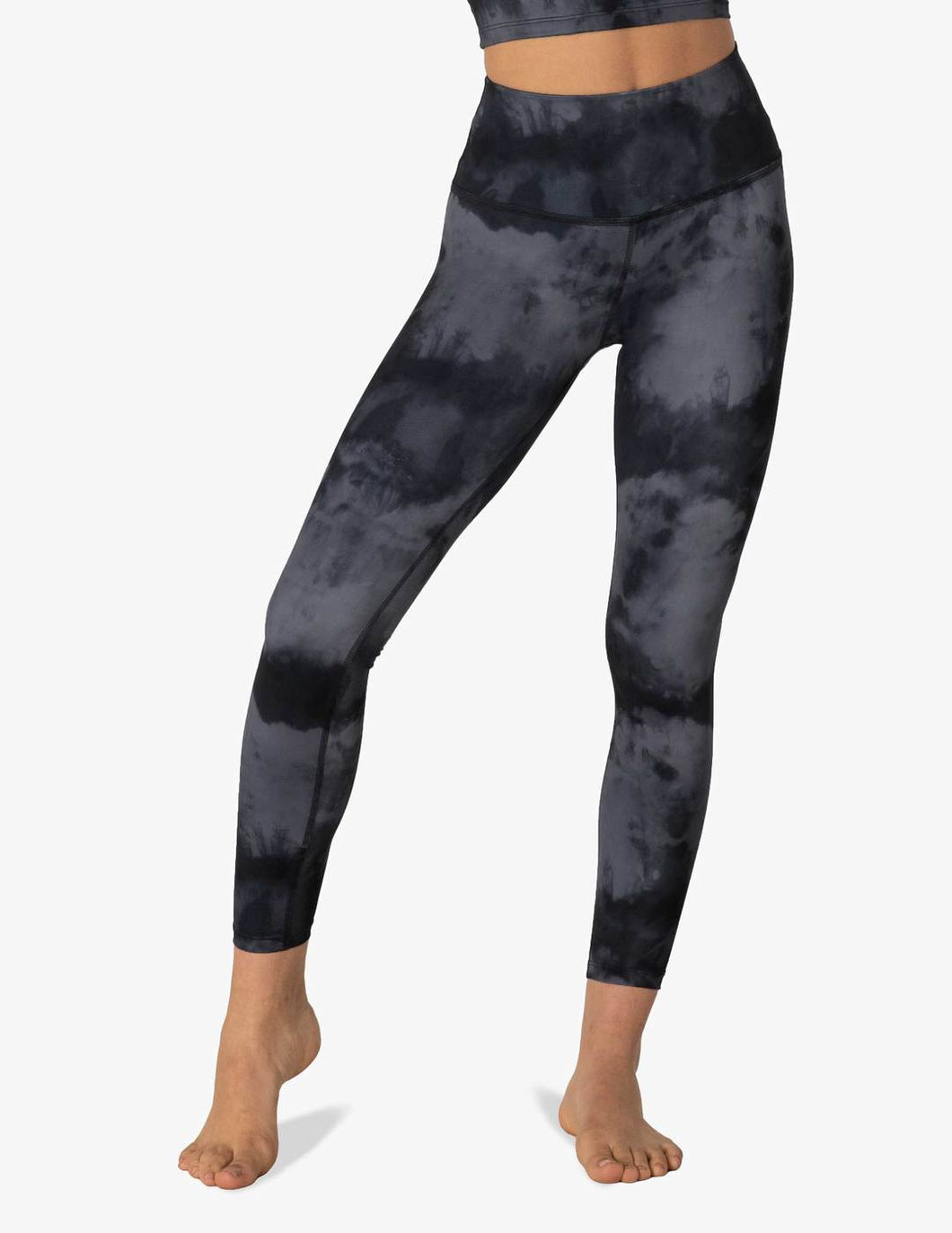 Lux Gray Smoke High Waisted Midi Legging