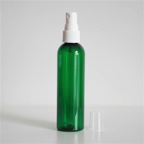 4 oz Green PET Bullet with Mister - White