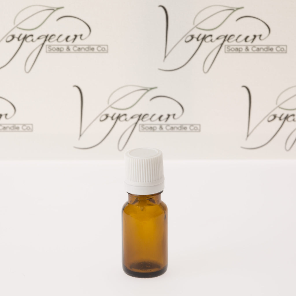 10 ml Amber Essential Oil Bottle with White Dropper Cap