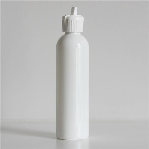 4 oz White Bullet Bottle with White Turret Dispensing Cap