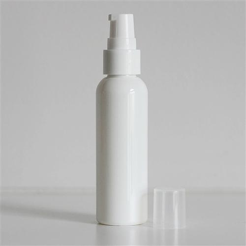 2 oz White Bullet Bottle with Treatment Pump - White