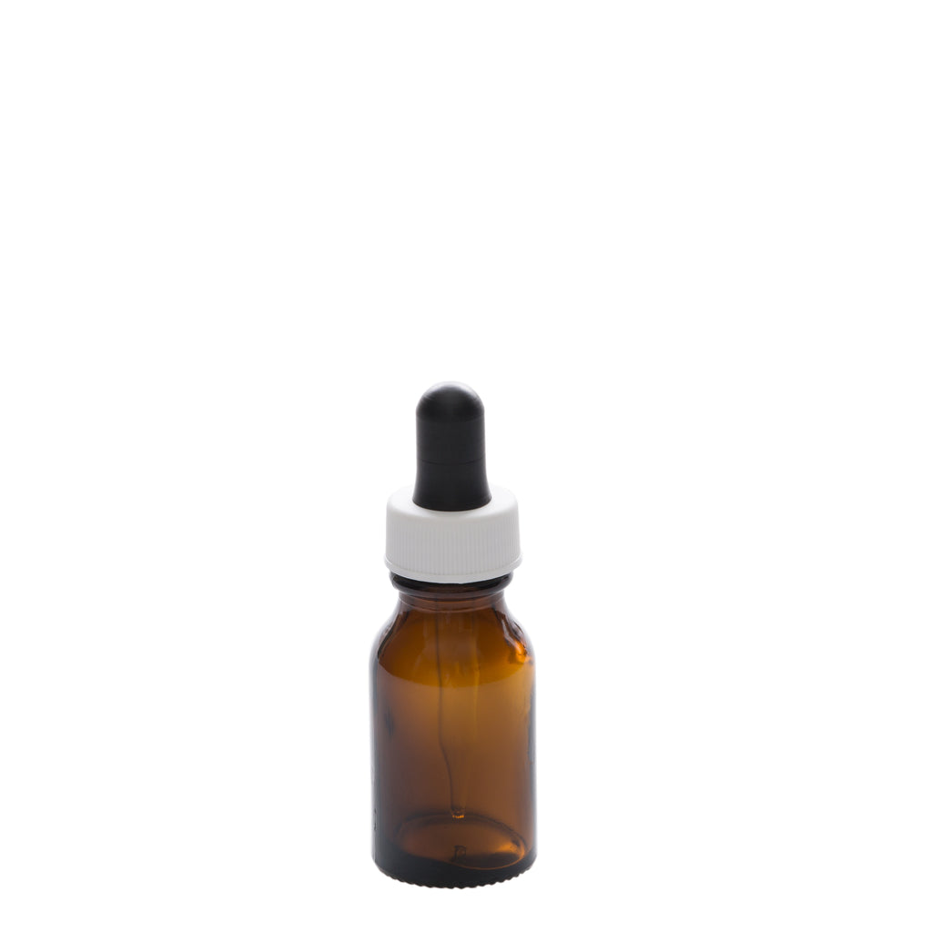 15 ml Amber Glass Bottle with 15 ml Glass Tube Dropper