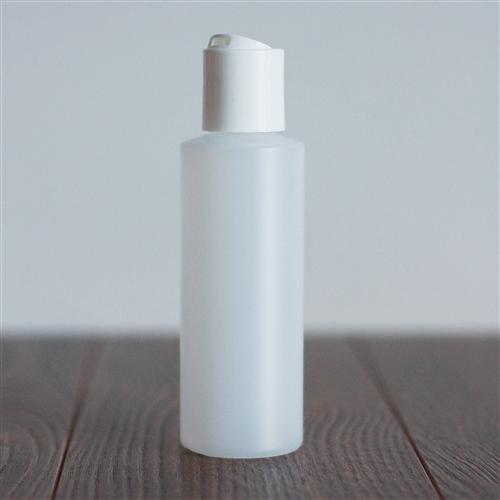 120 ml Natural HDPE Cylinder with Disc Cap - White