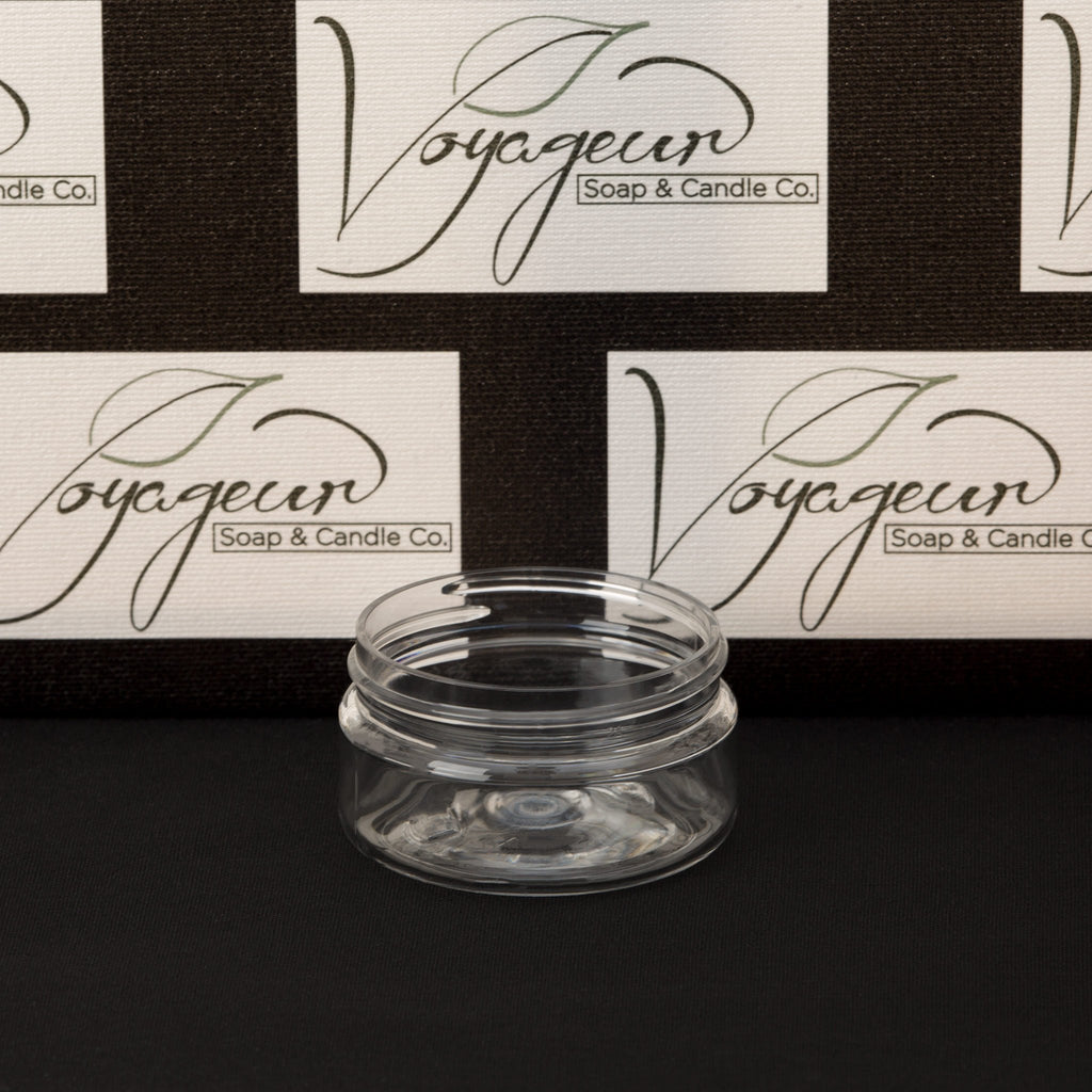 2 oz Clear Shallow Jar with No Closure