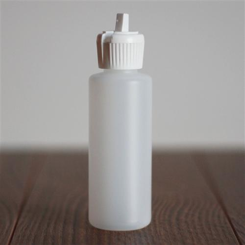 *60 ml Natural HDPE Cylinder with White Turret Cap