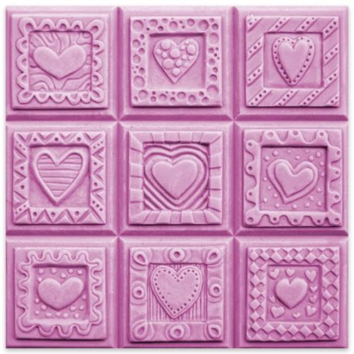 Crazy Hearts Tray Milky Way Soap Mold