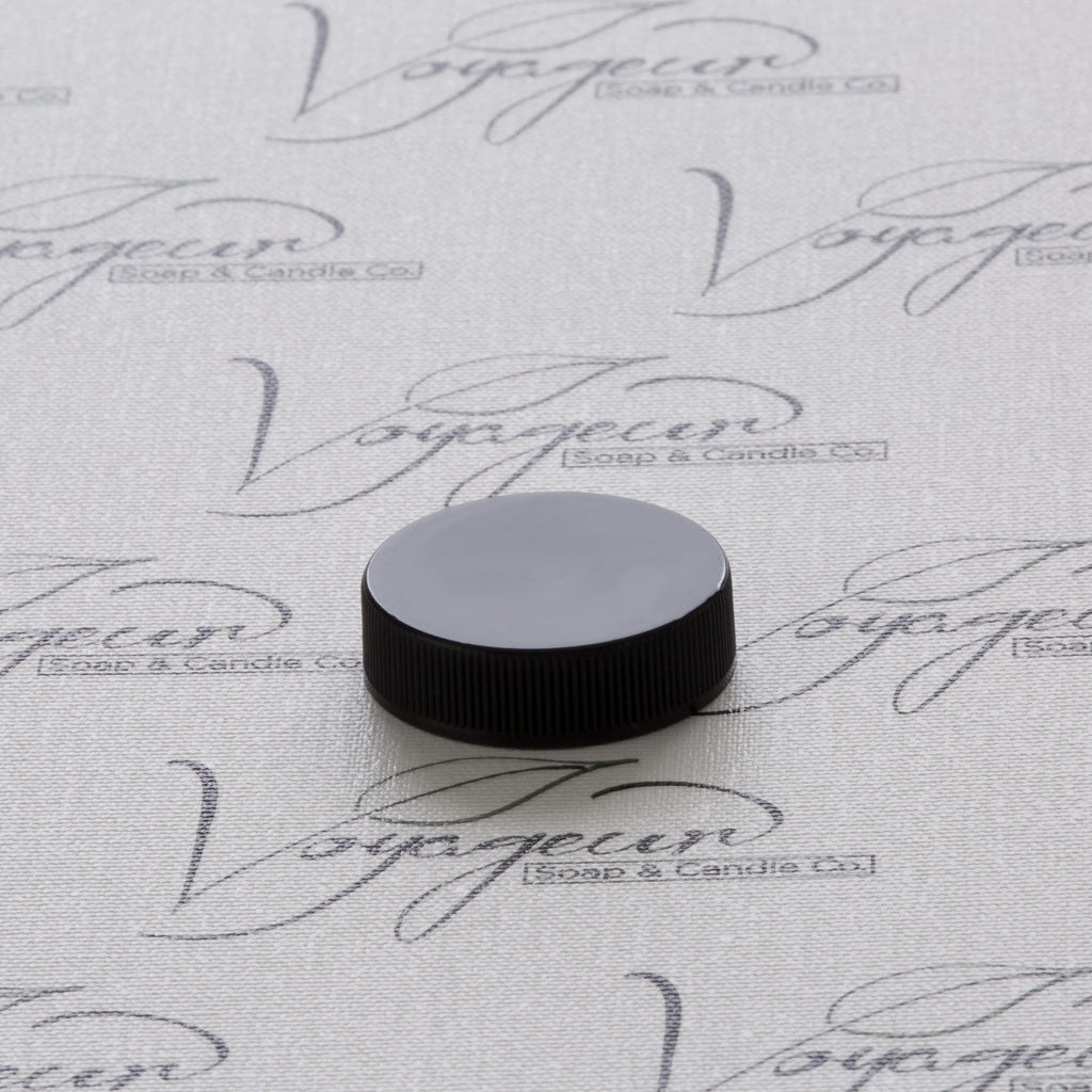 38-400 Black Ribbed Screw Cap