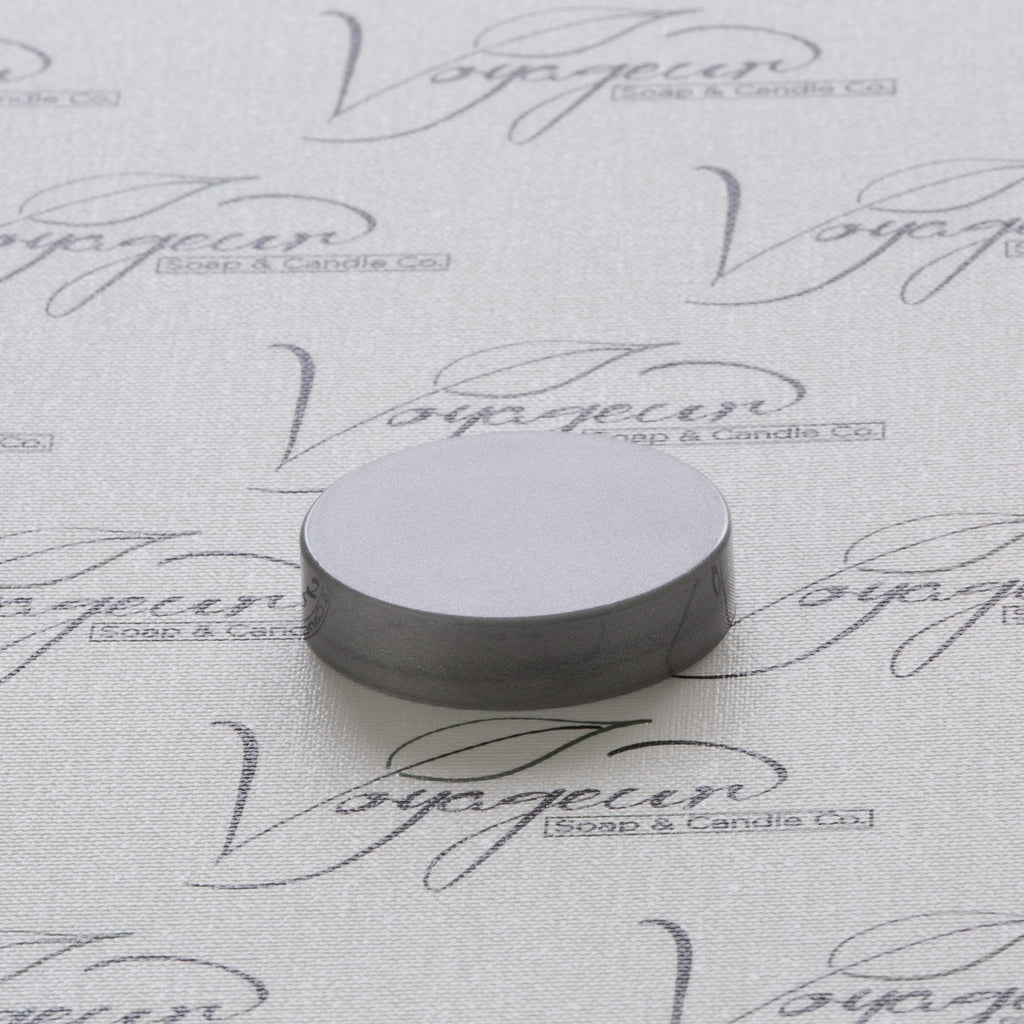 48-400 Silver Flat Gloss Smooth Cap