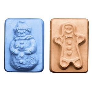 Guest Snowman & Gingerbreadman Milky Way Soap Mold