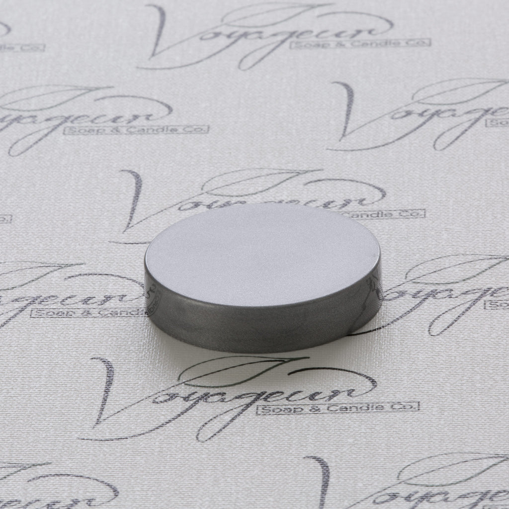 53-400 Silver Flat Gloss Smooth Cap