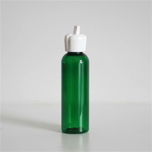 2 oz Green PET Bullet with White Turret Cap