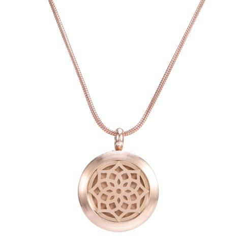 Blossom Aromatherapy Necklace - Rose Gold