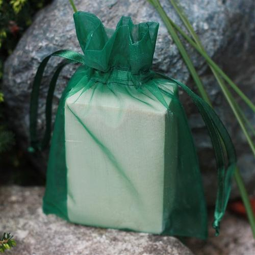"4"" x 6"" Organza Bag - Forest Green"