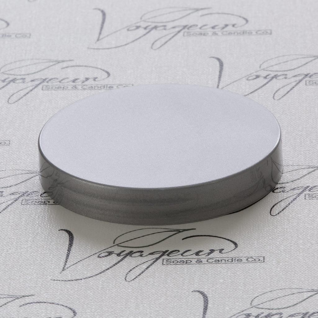 89-400 Silver Flat Gloss Smooth Cap