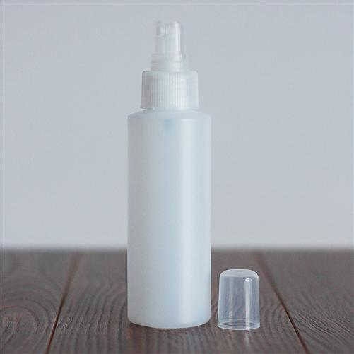 120 ml Natural HDPE Cylinder with Mister - Natural