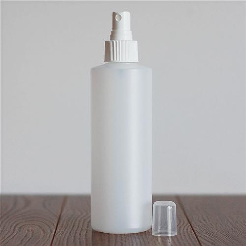 250 ml Natural HDPE Cylinder with Mister - White