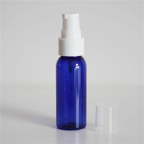 1 oz Blue Bullet with Treatment Pump - White