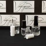5 ml Mini Round Nail Polish Bottle with Brush and White Cap