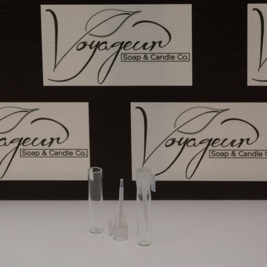 Clear Glass Perfume Vial with Natural Top