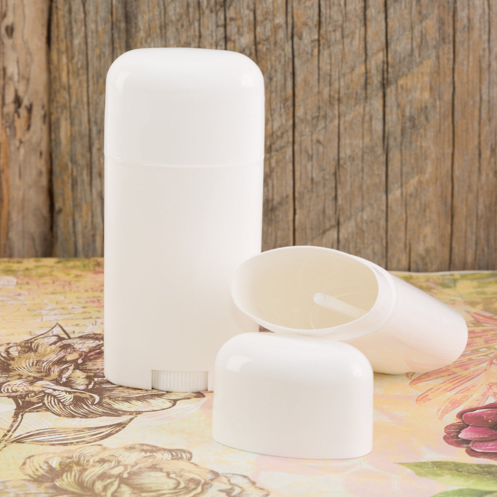 White Oval Stick Container - 75 grams / 2.5 oz