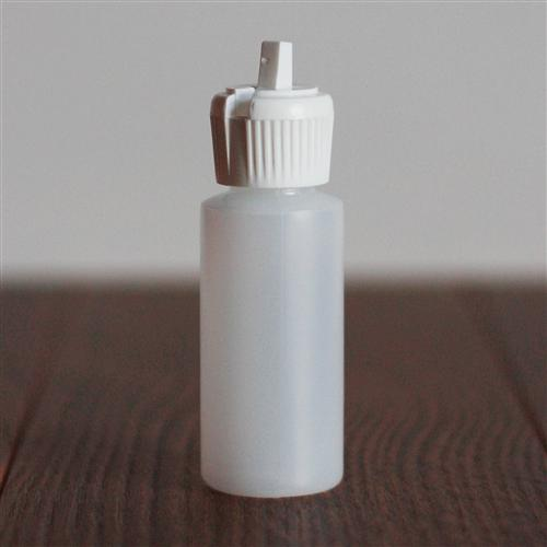 *30 ml Natural Cylinder with White Turret Cap