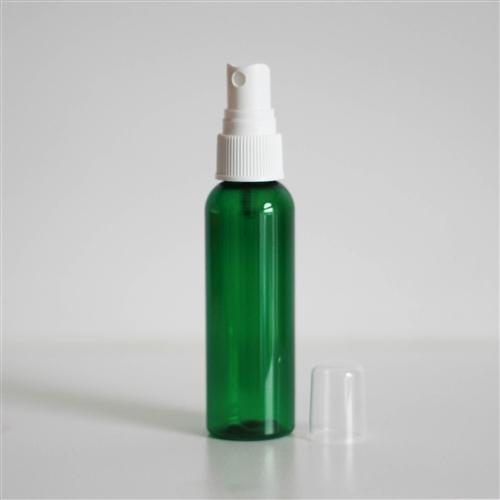 2 oz Green PET Bullet with Mister - White