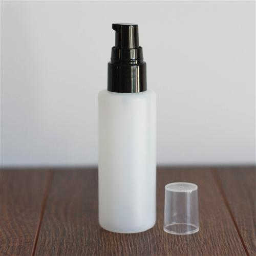 *60 ml Natural HDPE Cylinder with Treatment Pump - Black