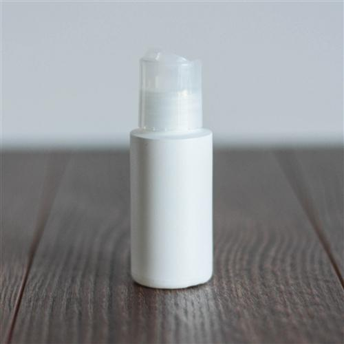 1 oz White Cylinder with Disc Cap - Natural