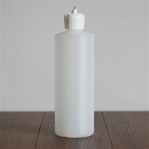500 ml Natural HDPE Cylinder with White Turret Cap