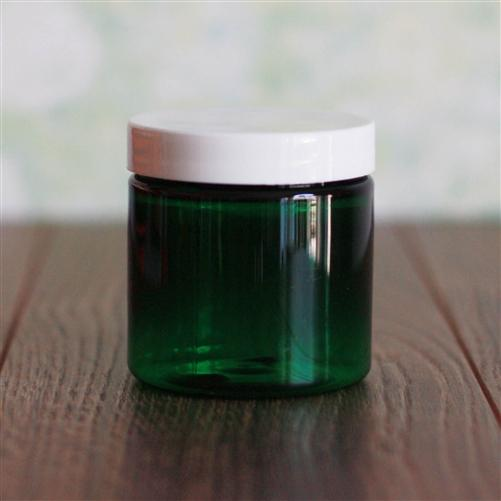 4 oz Green Jar with White Gloss Cap