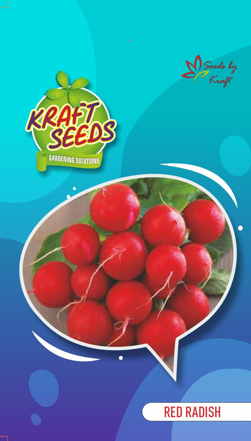 Radish (Red Round) Seeds English Vegetable Seeds Small Pack
