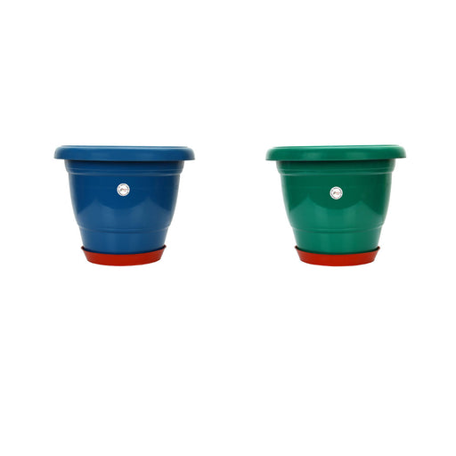 12-inch Gamla /Pot / Pots Planter Great for garden lovers Different colours (2 Pots +Tray)