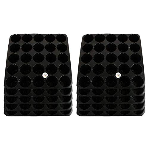 Seedling Starter Tray Set Black Colour Spectacular Quality (25 Holes in One Tray) (Pack of 10)