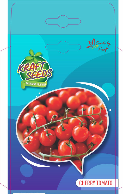 Cherry Tomato (Red) English Vegetable Improved Seeds With Agropeat 100gm KS Exclusive Packs