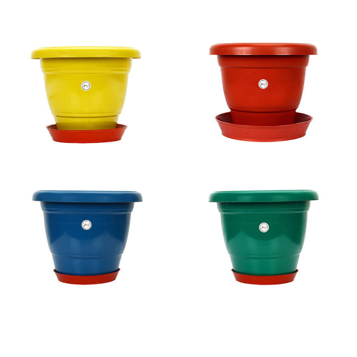 12-inch Gamla /Pot / Pots Planter Great for garden lovers Different colours (4 Pots +Tray)
