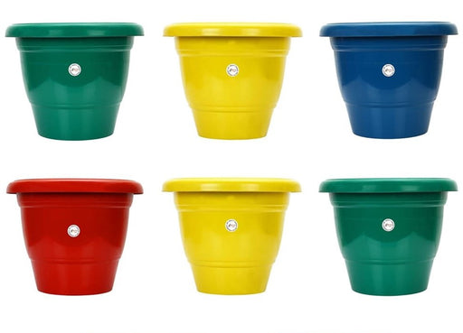 8-inch Fresh Gamla/Pot/Pots Planter. Great for garden lovers Different colours ( 6 Pots)