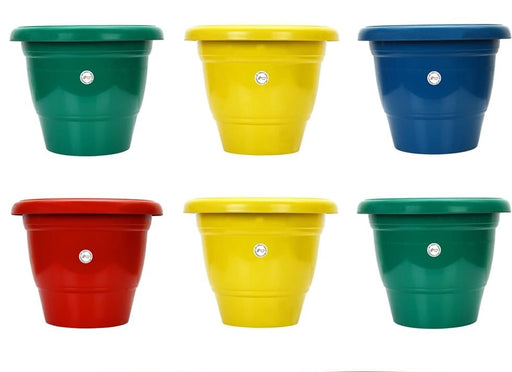 10-inch Fresh Gamla/Pot/Pots Planter. Great for garden lovers Different colours ( 6 Pots)
