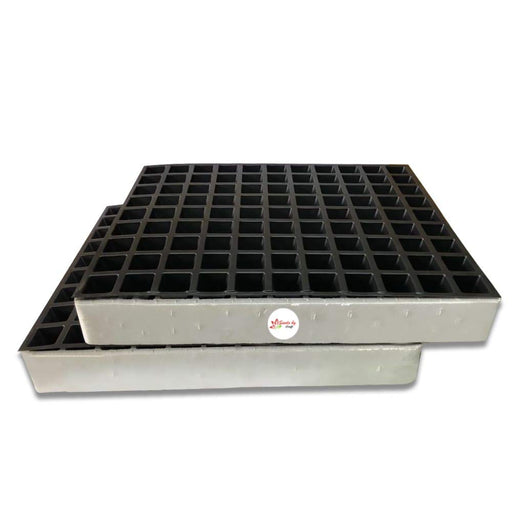 Seedling Starter Tray Set Strong Quality with Thermocol Base Sturdy Tray (99 Holes in One Tray) 2pc