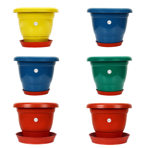 14-inch Gamla /Pot / Pots Planter Great for garden lovers Different colours (6 Pots +Tray)
