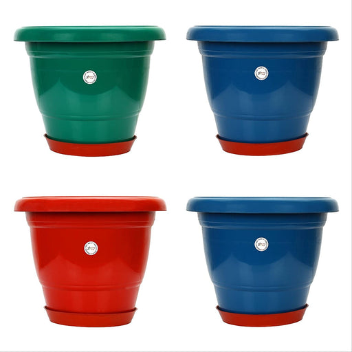 14-inch Gamla /Pot / Pots Planter Great for garden lovers Different colours (4 Pots +Tray)