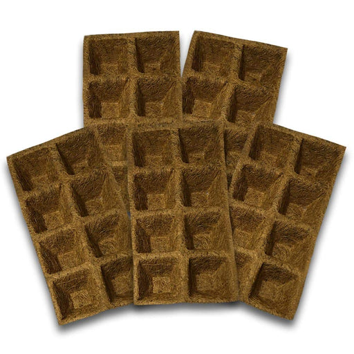 Coco Fiber Natural Coir Tray for Seed Germinating of Seeds ( 15 Pieces)